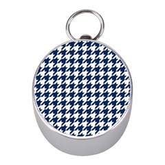 Houndstooth Midnight Mini Silver Compasses