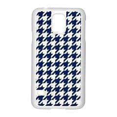 Houndstooth Midnight Samsung Galaxy S5 Case (white)