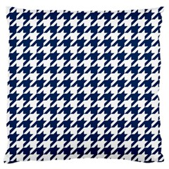 Houndstooth Midnight Standard Flano Cushion Cases (one Side)