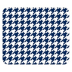 Houndstooth Midnight Double Sided Flano Blanket (Small)