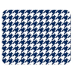 Houndstooth Midnight Double Sided Flano Blanket (Medium)