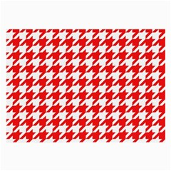 Houndstooth Red Large Glasses Cloth