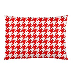 Houndstooth Red Pillow Cases