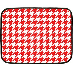 Houndstooth Red Fleece Blanket (mini)