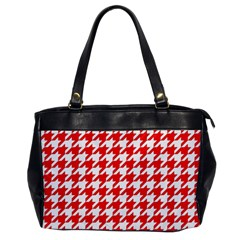 Houndstooth Red Office Handbags