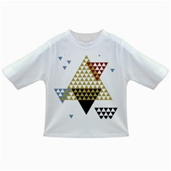 Colorful Modern Geometric Triangles Pattern Infant/toddler T Shirts