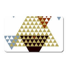 Colorful Modern Geometric Triangles Pattern Magnet (Rectangular)