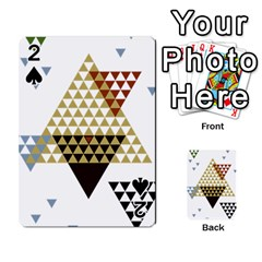 Colorful Modern Geometric Triangles Pattern Playing Cards 54 Designs