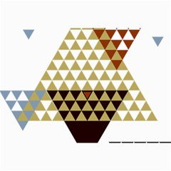 Colorful Modern Geometric Triangles Pattern Collage 12  X 18