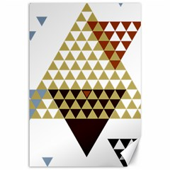 Colorful Modern Geometric Triangles Pattern Canvas 12  x 18
