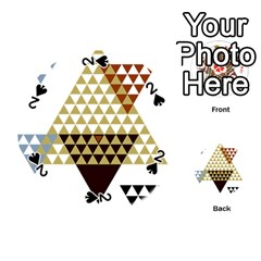Colorful Modern Geometric Triangles Pattern Playing Cards 54 (round)