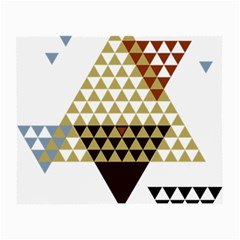Colorful Modern Geometric Triangles Pattern Small Glasses Cloth (2-Side)