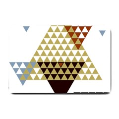 Colorful Modern Geometric Triangles Pattern Small Doormat