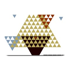 Colorful Modern Geometric Triangles Pattern Plate Mats