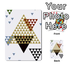 Colorful Modern Geometric Triangles Pattern Multi-purpose Cards (Rectangle)