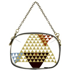 Colorful Modern Geometric Triangles Pattern Chain Purses (Two Sides)