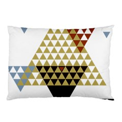 Colorful Modern Geometric Triangles Pattern Pillow Cases