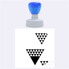 Colorful Modern Geometric Triangles Pattern Rubber Round Stamps (large)
