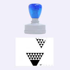 Colorful Modern Geometric Triangles Pattern Rubber Oval Stamps