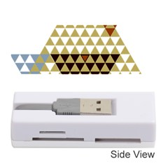 Colorful Modern Geometric Triangles Pattern Memory Card Reader (stick)