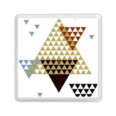 Colorful Modern Geometric Triangles Pattern Memory Card Reader (square)