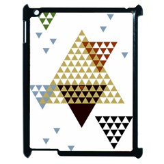 Colorful Modern Geometric Triangles Pattern Apple iPad 2 Case (Black)