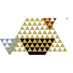 Colorful Modern Geometric Triangles Pattern You Are Invited 3d Greeting Card (8x4)