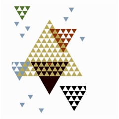 Colorful Modern Geometric Triangles Pattern Small Garden Flag (two Sides)