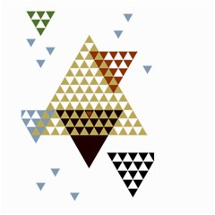 Colorful Modern Geometric Triangles Pattern Large Garden Flag (two Sides)