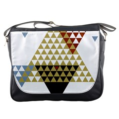 Colorful Modern Geometric Triangles Pattern Messenger Bags