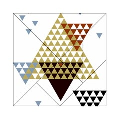 Colorful Modern Geometric Triangles Pattern Acrylic Tangram Puzzle (6  X 6 )