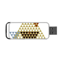 Colorful Modern Geometric Triangles Pattern Portable USB Flash (One Side)