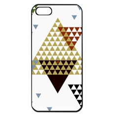 Colorful Modern Geometric Triangles Pattern Apple iPhone 5 Seamless Case (Black)