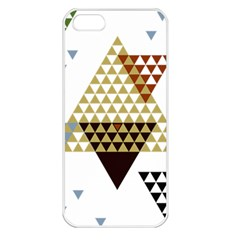 Colorful Modern Geometric Triangles Pattern Apple iPhone 5 Seamless Case (White)
