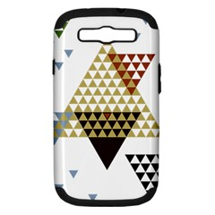 Colorful Modern Geometric Triangles Pattern Samsung Galaxy S III Hardshell Case (PC+Silicone)