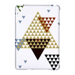Colorful Modern Geometric Triangles Pattern Apple iPad Mini Hardshell Case (Compatible with Smart Cover)