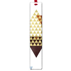 Colorful Modern Geometric Triangles Pattern Large Book Marks