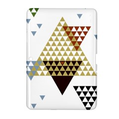 Colorful Modern Geometric Triangles Pattern Samsung Galaxy Tab 2 (10 1 ) P5100 Hardshell Case