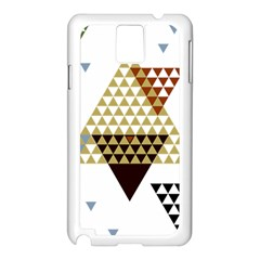 Colorful Modern Geometric Triangles Pattern Samsung Galaxy Note 3 N9005 Case (White)
