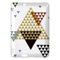 Colorful Modern Geometric Triangles Pattern Kindle Fire Hdx Hardshell Case