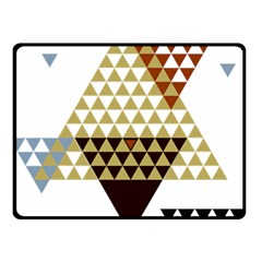 Colorful Modern Geometric Triangles Pattern Double Sided Fleece Blanket (Small)