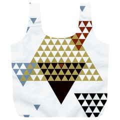 Colorful Modern Geometric Triangles Pattern Full Print Recycle Bags (L)