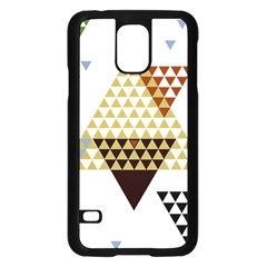 Colorful Modern Geometric Triangles Pattern Samsung Galaxy S5 Case (black)