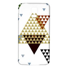Colorful Modern Geometric Triangles Pattern Samsung Galaxy S5 Back Case (White)