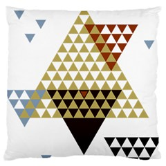 Colorful Modern Geometric Triangles Pattern Large Flano Cushion Cases (one Side)