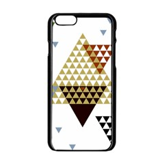 Colorful Modern Geometric Triangles Pattern Apple iPhone 6/6S Black Enamel Case