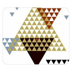Colorful Modern Geometric Triangles Pattern Double Sided Flano Blanket (Small)