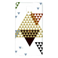 Colorful Modern Geometric Triangles Pattern Galaxy Note 4 Back Case