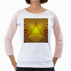 Swirling Dreams Yellow Girly Raglans