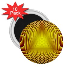 Swirling Dreams Yellow 2.25  Magnets (10 pack)